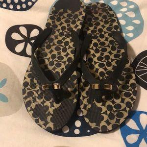 Coach Shoes - Signature Coach flip flops size 10